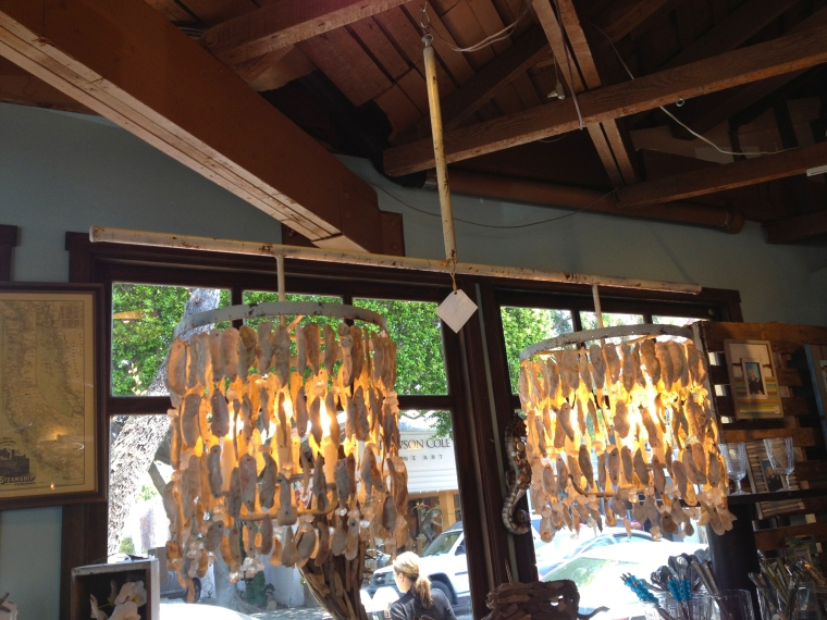 Drooling over this double oyster shell chandelier~only $4,500!