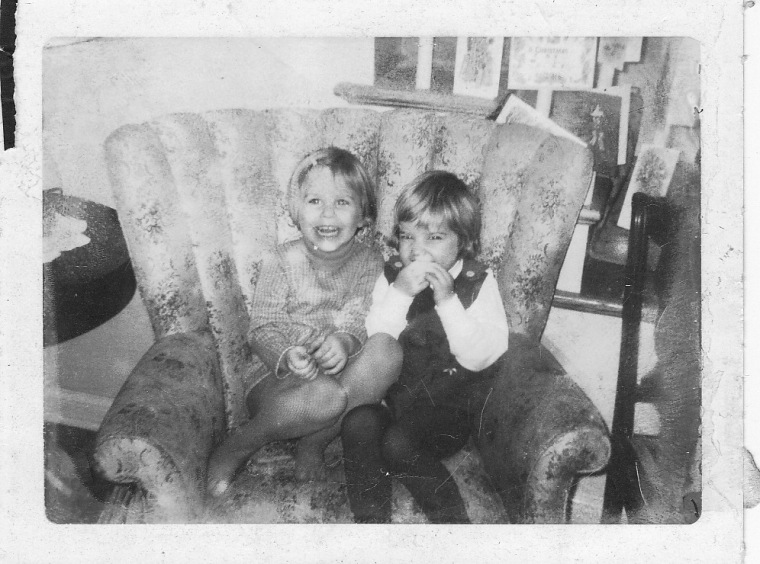That's us circa '68. Tracy's on the right.